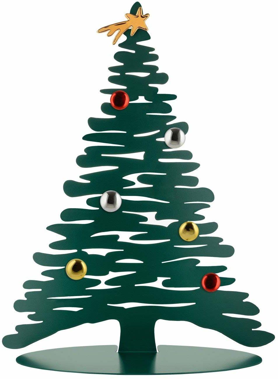 Alessi kora Bg06 Gr-Design ozdoba świąteczna ze stali kolorowej z żywicy epoksydowej, zielona z magnesami w porcelanie, jeden rozmiar