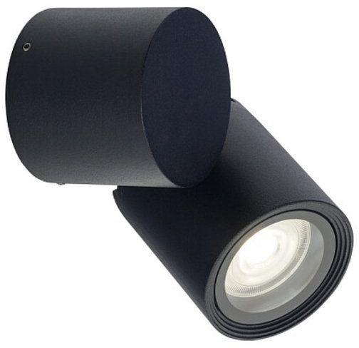 Kinkiet reflektorek zewnętrzny do ogrodu TUBINGS czarny