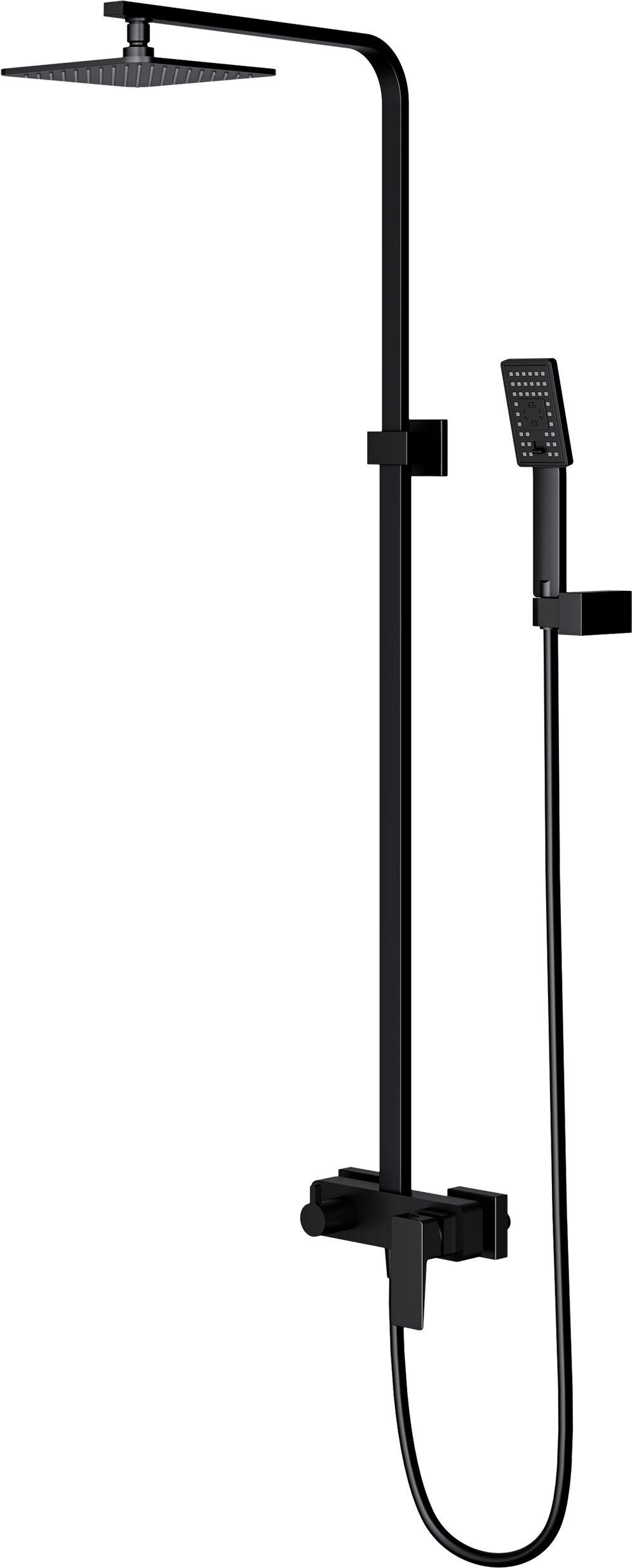 OMNIRES System prysznicowy, natynkowy Parma PM7444BL czarny