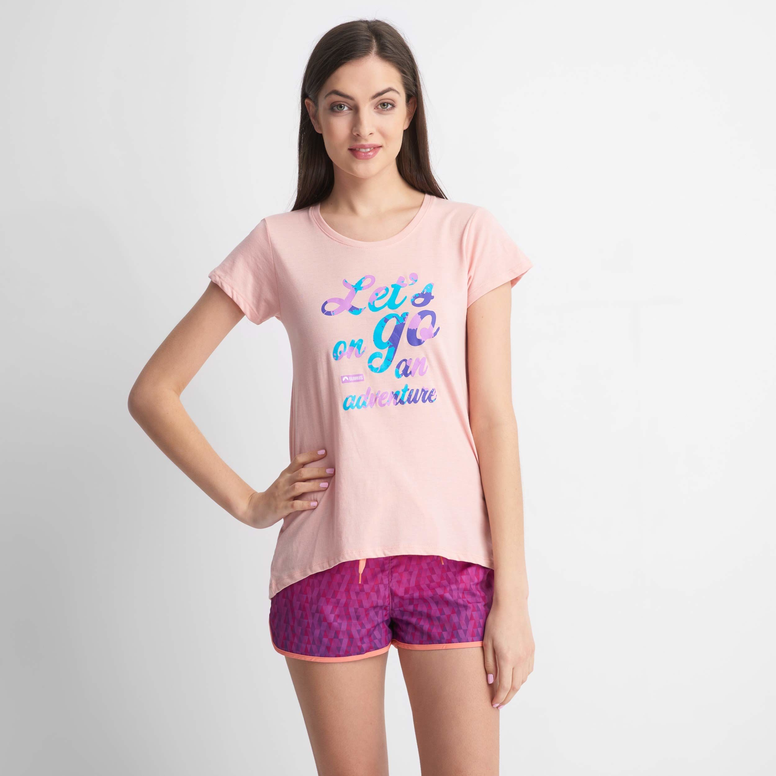 ELBRUS EMAS WO''S T-shirt, jasnoróżowy, XS