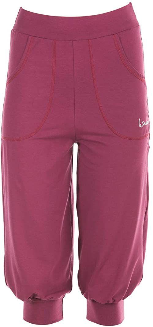 WINSHAPE damskie spodnie treningowe Winshape damskie przewiewne spodnie treningowe 3/4-high waist-spodnie Wbe12, Winshape All-fit Style, fitness, czas wolny czerwony Berry-love M