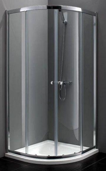 Atrium Bari kabina półokrągła 90x90x190 cm szkło: przejrzyste FF0409