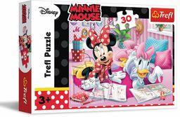 Trefl Najlepsze przyjaciółki Puzzle 30 Elementów Myszka Minnie o Wysokiej Jakości Nadruku dla Dzieci od 3 lat