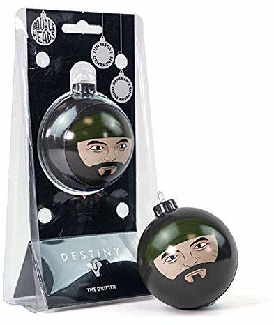 Numskull ''Heads Official Destiny The Drifter'' ozdoba choinkowa - czarna cyna metalowa bombka świąteczna wisząca dekoracja