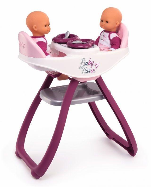 Krzesełko Do Karmienia Dla Bliźniąt Lalek Smoby Baby Nurse
