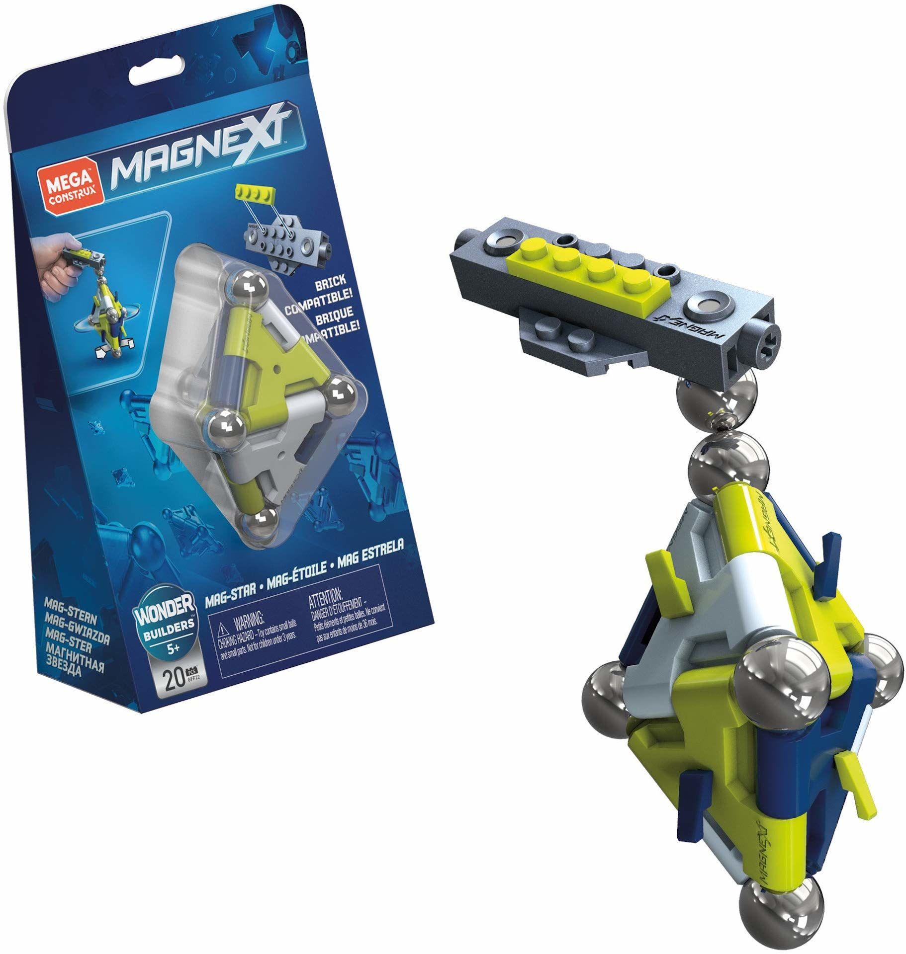 Mega Construx GFF22 - magnext Mag gwiazda magnetyczne klocki i i kule zestaw do budowy z 20 klockami, zabawka od 5 lat