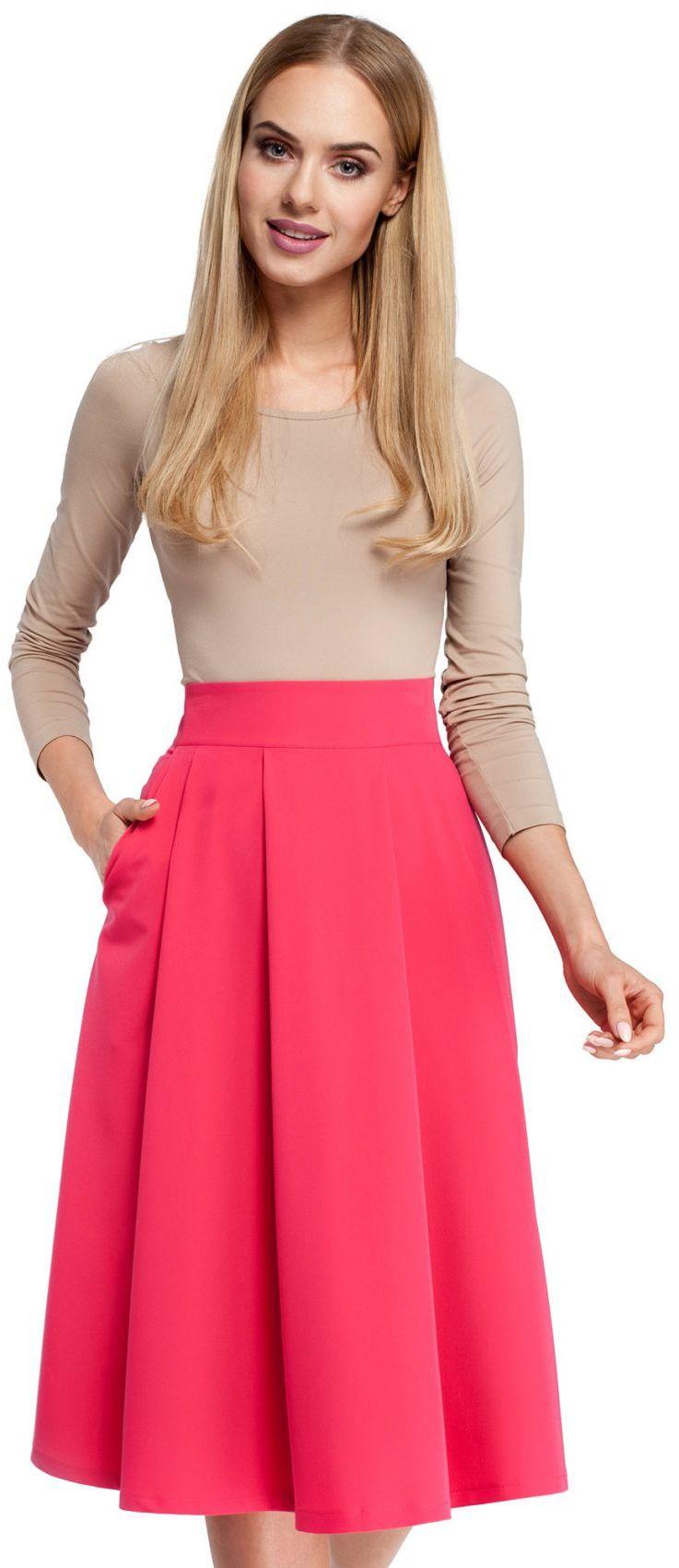 M302 Spódnica różowa