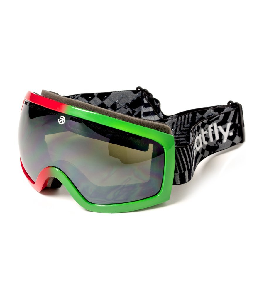 okulary snowboardowe MEATFLY INSIGHT SPHERE C Rasta/Black Chrome