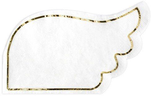 Białe serwetki papierowe Skrzydła 32x20cm 20 sztuk SPK2