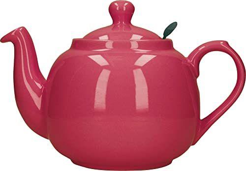 London Pottery Domek wiejski czajniczek z zaparzaczem, ceramiczny, różowy, 4 filiżanki (1,2 l)