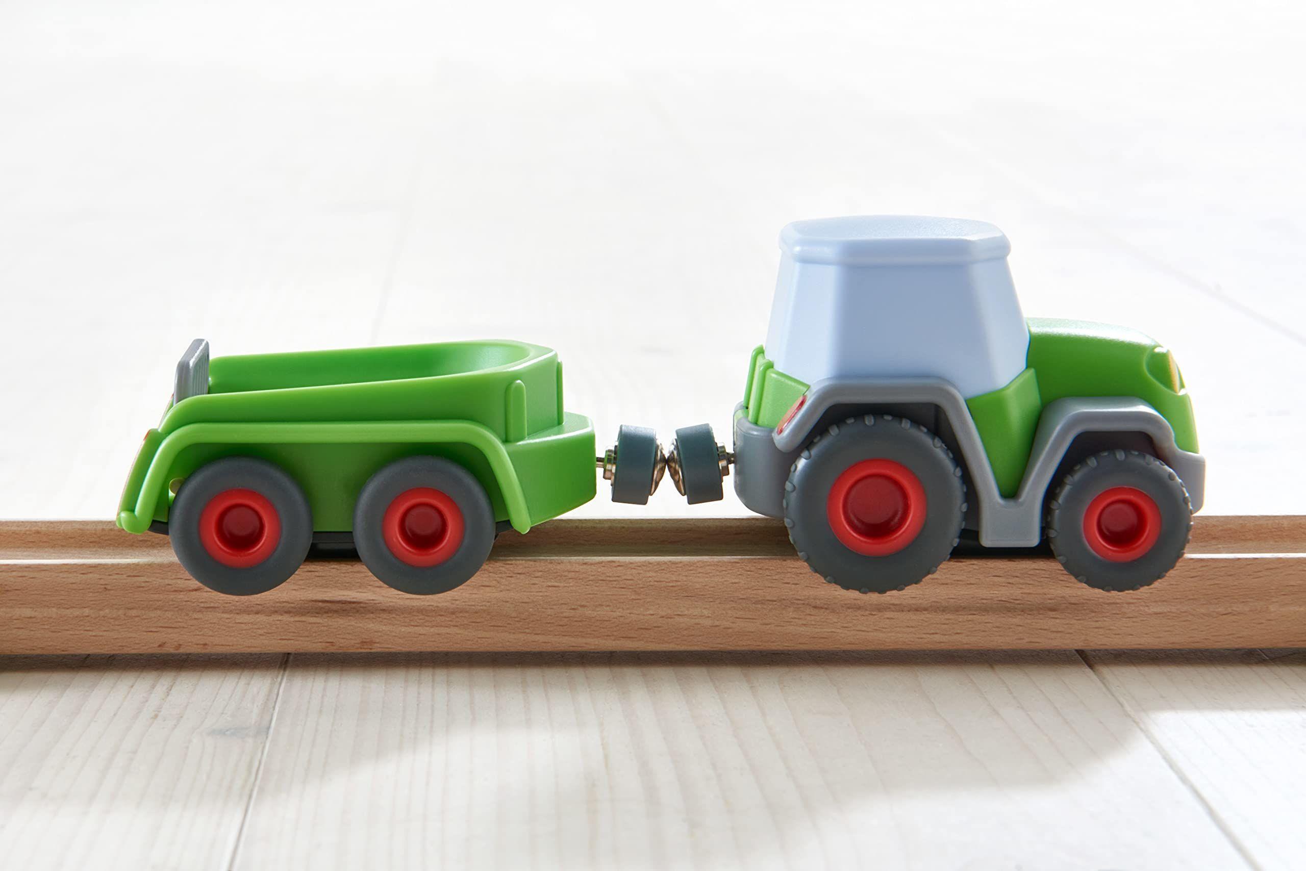 HABA 305562  Kullerbü  traktor z przyczepą, akcesoria kolejek kulowych od 2 lat
