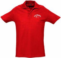 Supportershop Unisex dziecięca koszulka polo Rugby Enfant Tonga Rugby dla dzieci Tonga czerwony czerwony FR : M (Taille Fabricant : 6 Jahre)