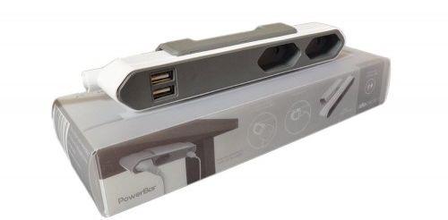 PowerBar przedłużacz, listwa zasilająca 1,5m superpłaski + 2 gniazda USB