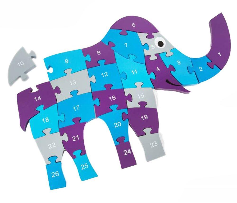 BS Toys GA236 Puzzle ze słoniem, wielokolorowe