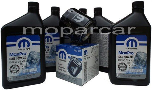 Filtr oraz olej MOPAR 10W30 Chrysler Sebring V6