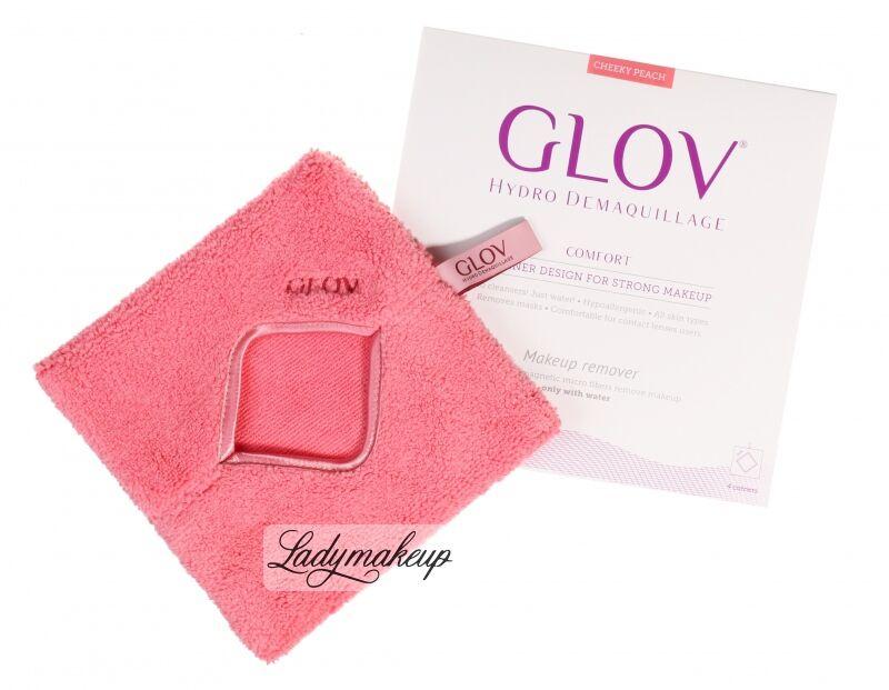 GLOV - HYDRO DEMAQUILLAGE - COMFORT COLOR EDITION - Rękawica do demakijażu i oczyszczania skóry - CHEEKY PEACH