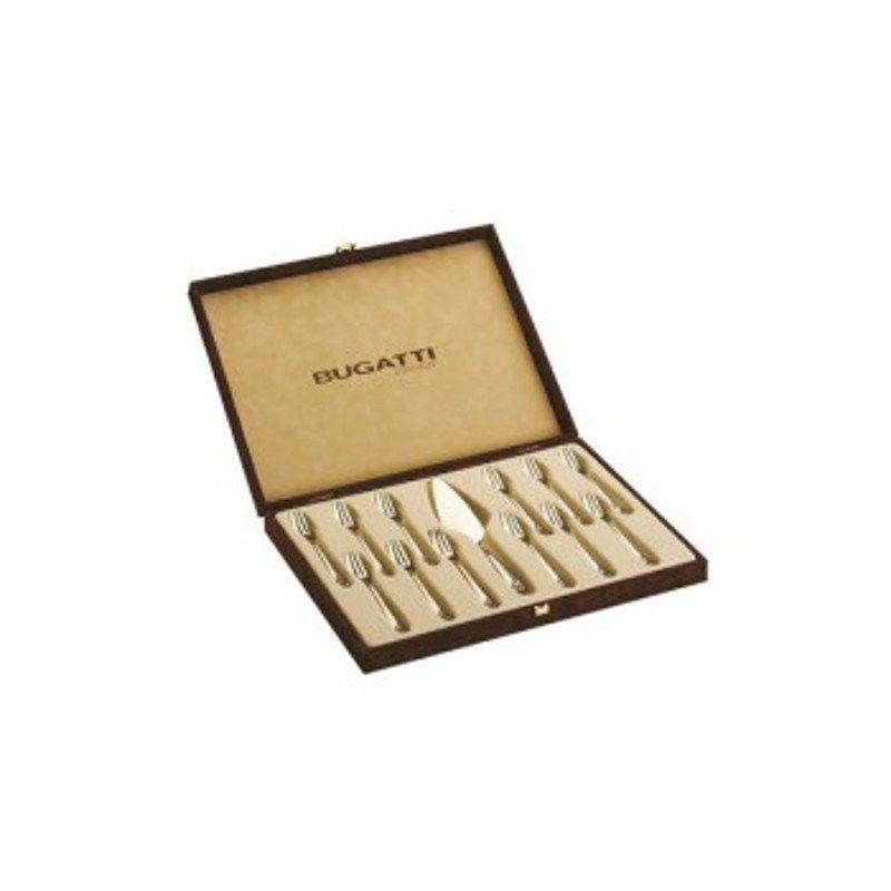 Casa bugatti - aladdin - 13 częściowy zestaw do ciasta w walizce - perłowa kość słoniowa