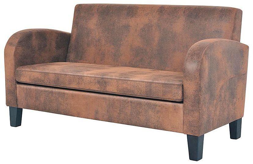 Dwuosobowa sofa Mayor 2X - brązowa