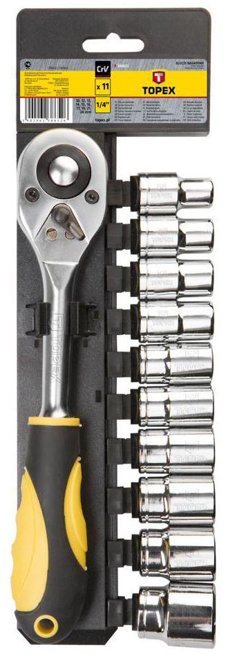 """Zestaw kluczy nasadowych 1/2"""" 38D652 11 szt. TOPEX"""