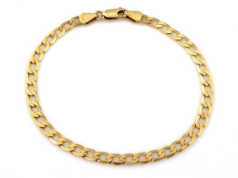 Złota bransoleta męska 585 splot pancerka 6.33g