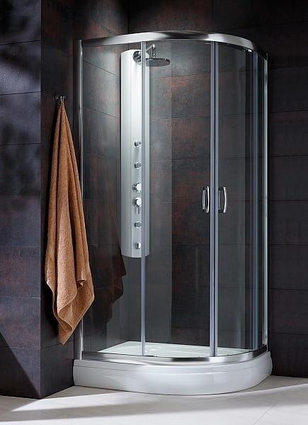 Kabina prysznicowa półokrągła Radaway Premium Plus E 120x90 szkło przejrzyste wys. 190 cm. 30493-01-01N