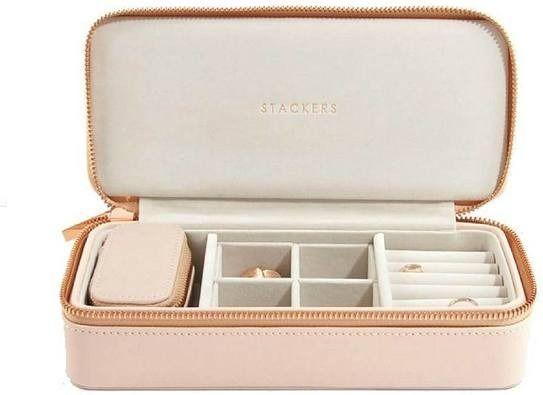 Pudełko podróżne na biżuterię travel large stackers blush pink