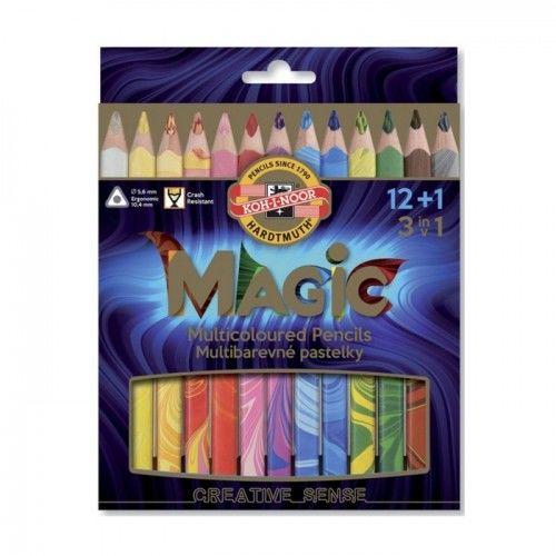 Kredki KOH-I-NOOR Magic trio 12+1kol. 3408/13