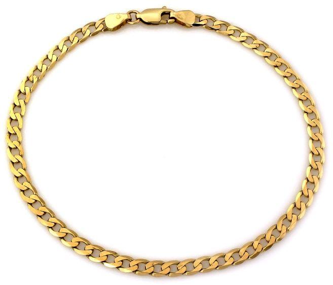 Złota bransoleta męska 585 splot pancerka pancer 4.44g