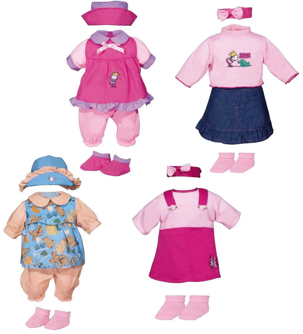 Bayer Design 84670-sukienka-3 - sukienka dla lalek około 42-46 cm