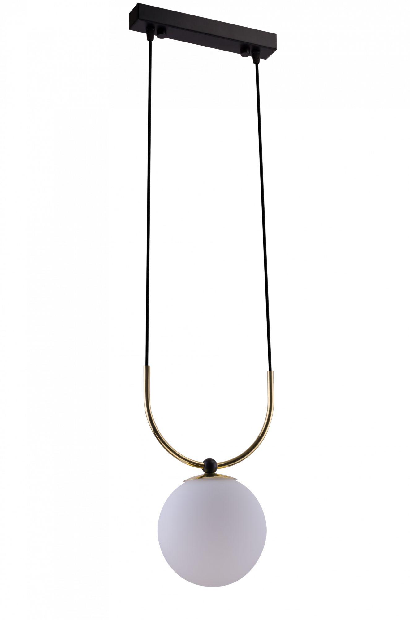 Lampa wisząca Balos 1 Amplex dekoracyjna oprawa ze szklanym kloszem