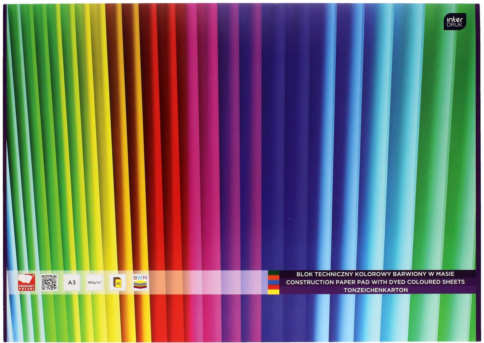 Blok techniczny A3/20 kolor barwiony w masie Interdruk