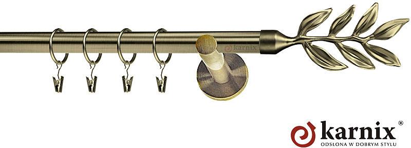 Karnisze nowoczesne NEO pojedynczy 19mm Aldis antyk mosiądz