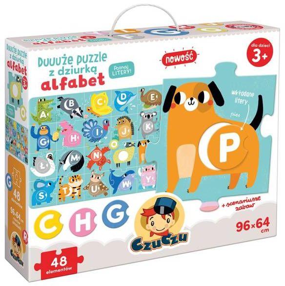 CzuCzu Duuuże puzzle z dziurką Alfabet 3+ - Bright Junior Media