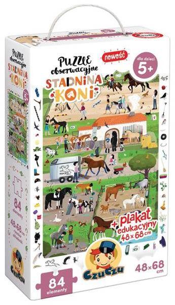 Puzzle obserwacyjne Stadnina koni - Bright Junior Media