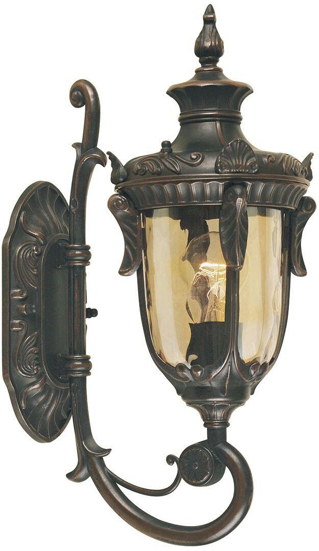 Kinkiet zewnętrzny Philadelphia PH1/S OB Elstead Lighting klasyczna oprawa w kolorze antycznego brązu