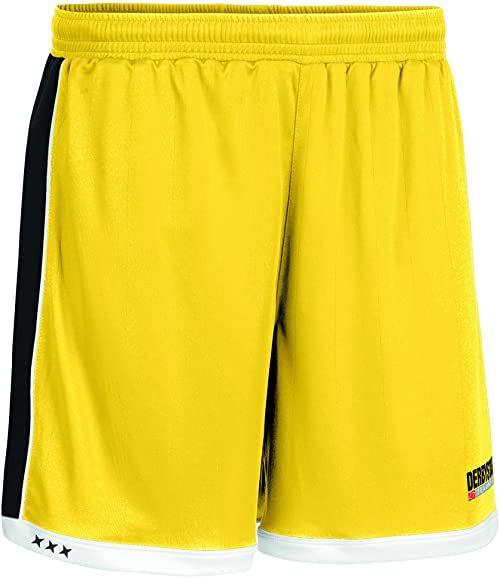 Derbystar Spodnie Brillant krótkie, XL, żółte, czarne, 6001060520