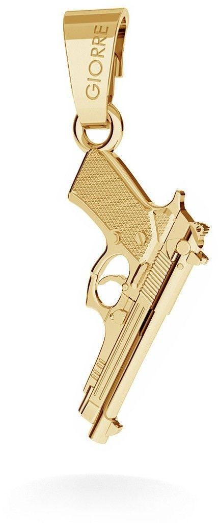 GIORRE Srebrny charms zawieszka beads pistolet beretta, srebro 925 : Srebro - kolor pokrycia -