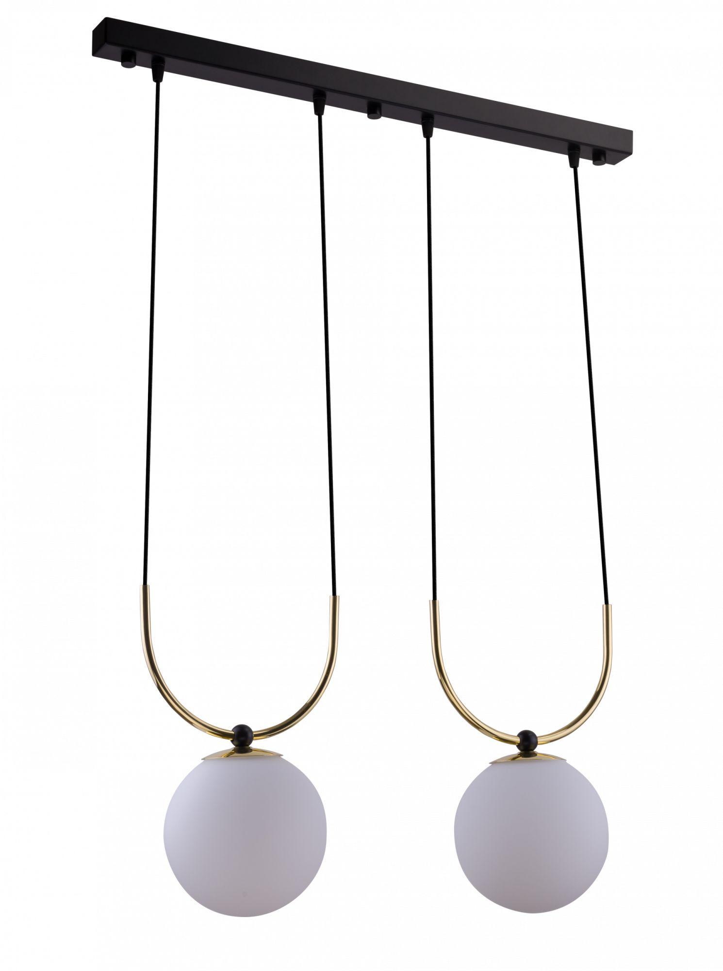 Lampa wisząca Balos 2 Amplex podwójna oprawa w dekoracyjnym stylu