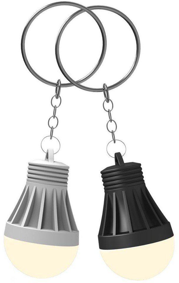 XANLITE PC105 1 LED breloczek do kluczy losowy biały/czarny