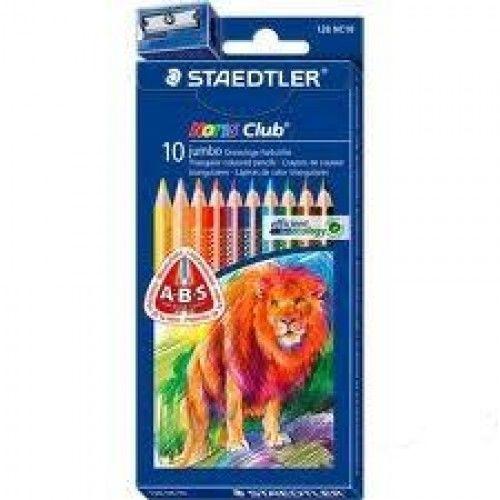 Kredki ołówkowe STAEDTLER Noris Club Triplus Jumbo 10 kolorów 128 NC10