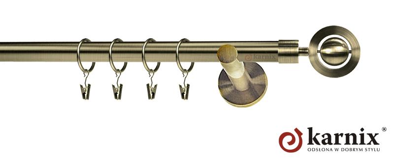 Karnisze nowoczesne NEO pojedynczy 19mm Alpi antyk mosiądz