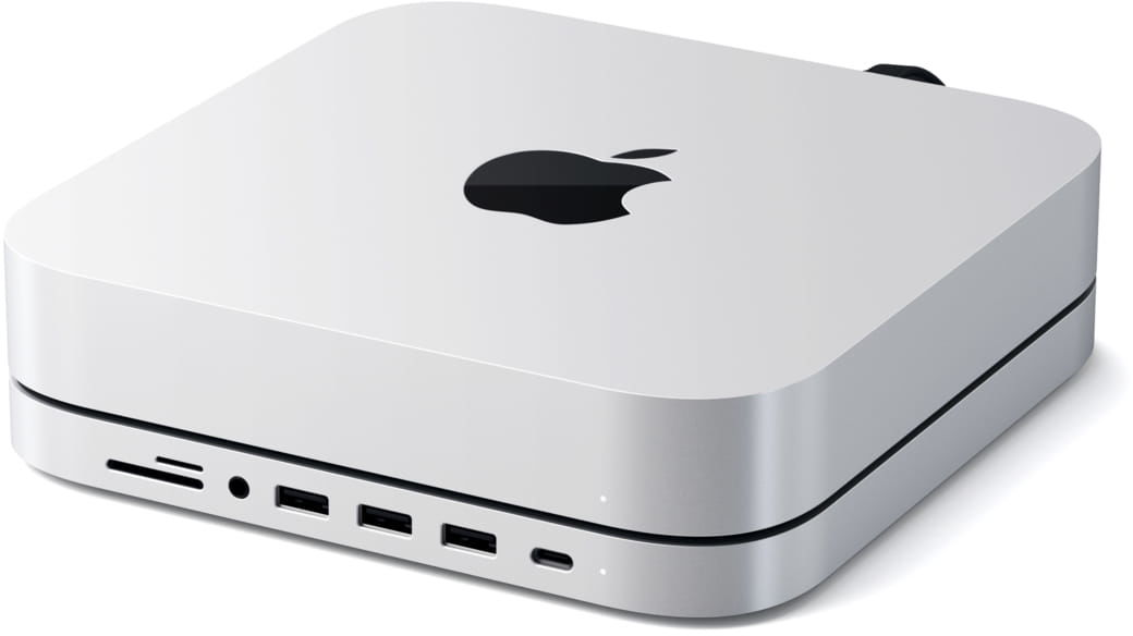 SATECHI Type-C Aluminum Stand & Hub for Mac mini Silver