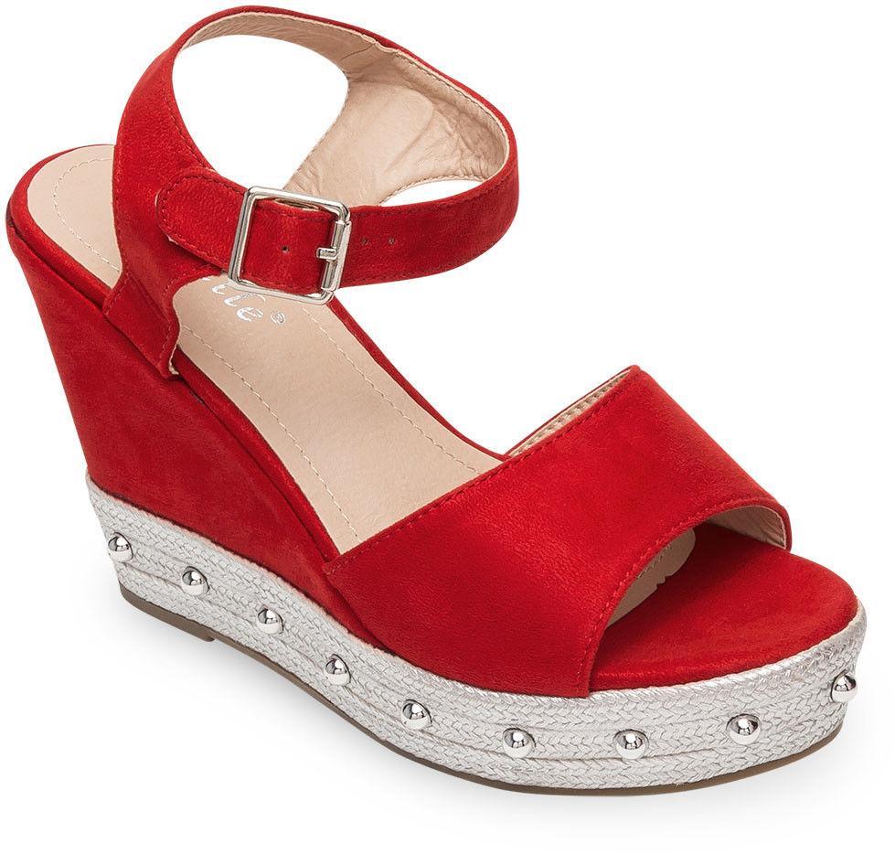 Sandały damskie Bestelle S1012-10SC-1 Czerwone