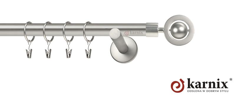 Karnisze nowoczesne NEO pojedynczy 19mm Alpi chrom mat