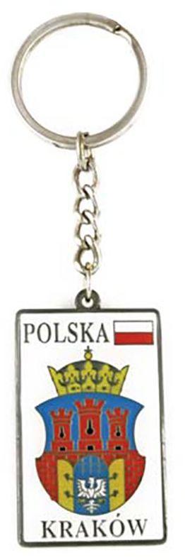 Brelok metalowy, herb, Kraków