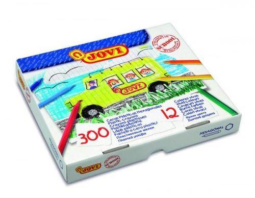 Kredki plastikowe JOVI hexagonalne 12 kolorów (300szt) 909