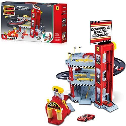 Bburago 15656096 - Ferrari Double Lane Racing Garage