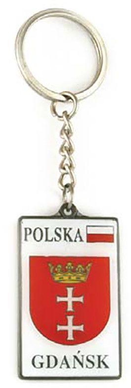 Brelok metalowy, herb, Gdańsk