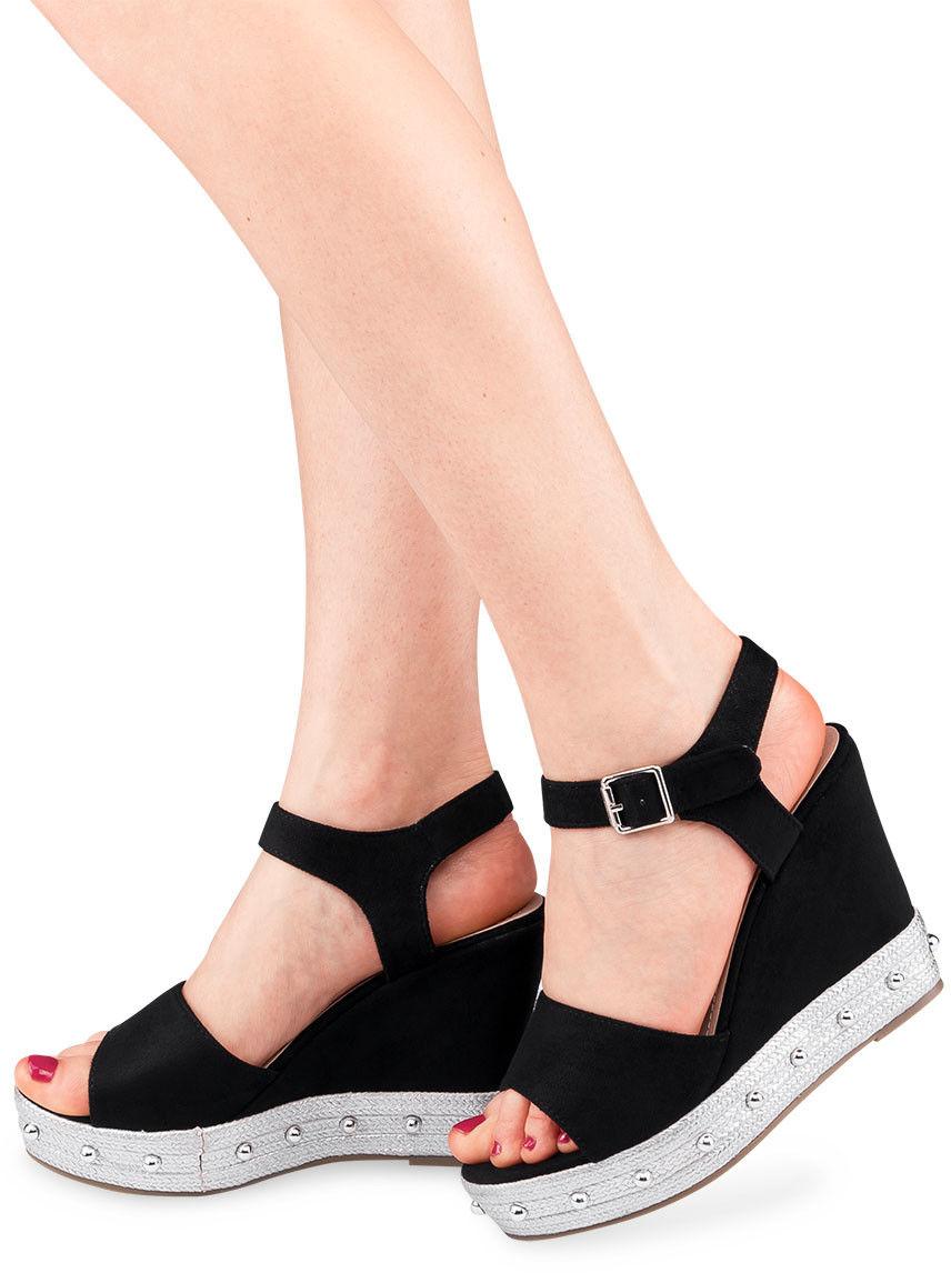 Sandały damskie Bestelle S1012-10SC-1 Czarne