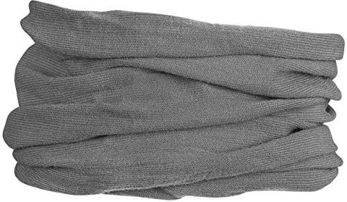 GripGrab Wielofunkcyjna chusta na szyję z merynosów czapka kolarska, szara, rozmiar uniwersalny